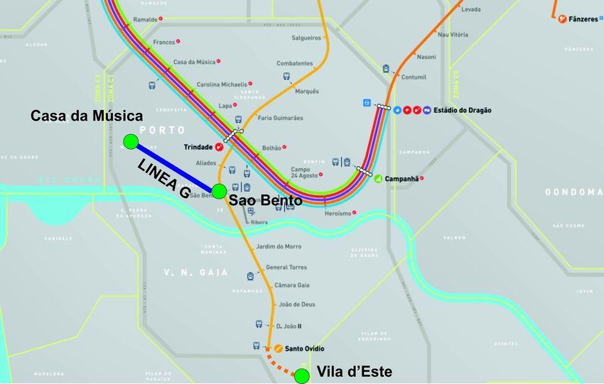 Aprobada la extensión del metro de Oporto