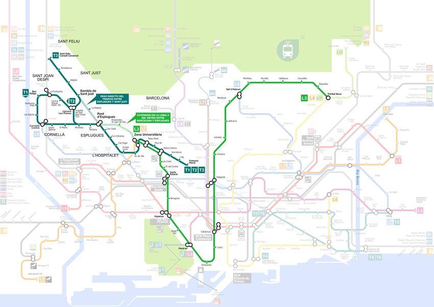 Protocolo Para Prolongar La Linea 3 De Metro De Barcelona Y El