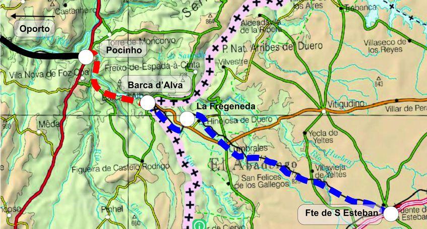 Un estudio de Infraestruturas de Portugal plantea recuperar la conexión con España por Barca d'Alva