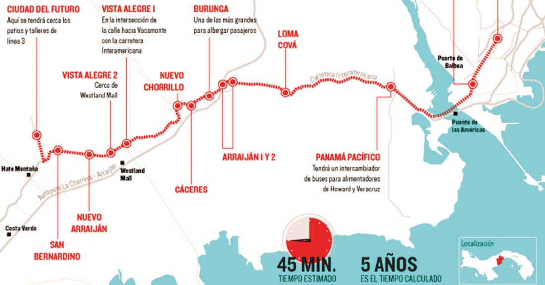 Tres consorcios con participación española, precalificados para el diseño y construcción de la línea 3 de Metro de Panamá